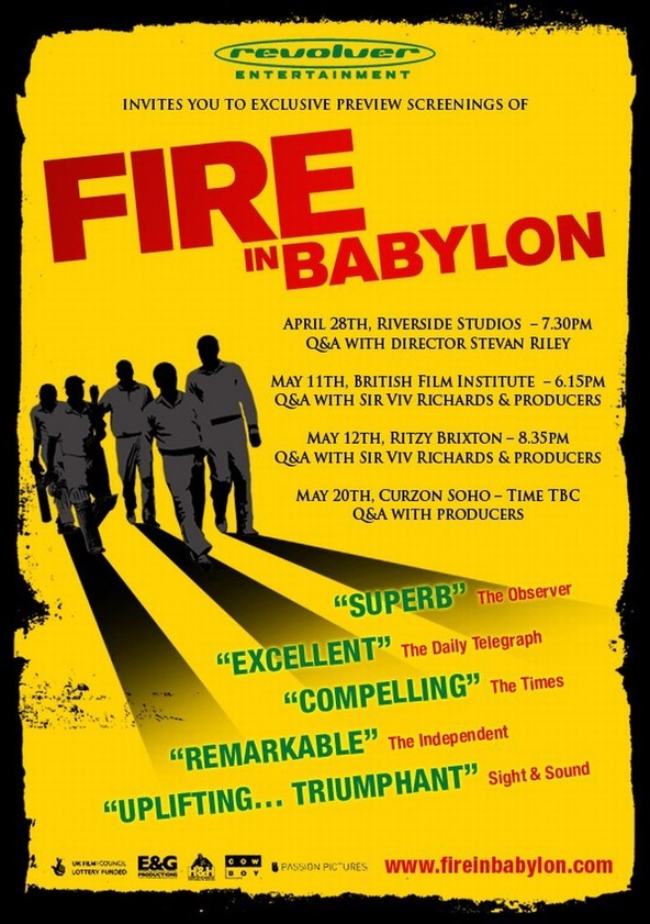 Fire in Babylon poster